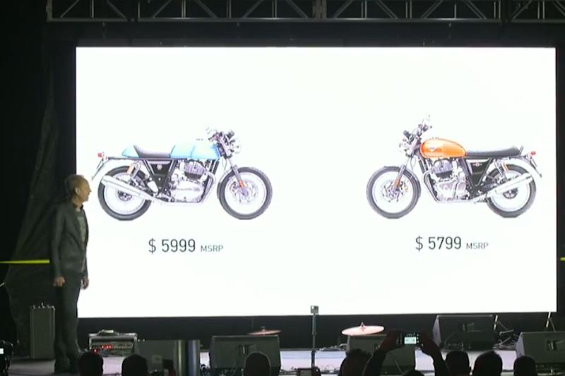 Royal Enfield 650 Twins pricing. (Image: Royal Enfield)