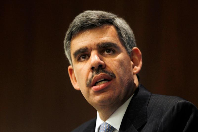 Mohamed El-Erian, CEO of Pacific Investment Management Company (PIMCO), gives the keynote address at the Symposium on Interest Rate Risk Management in Arlington January 29, 2010. REUTERS/Jason Reed (UNITED STATES - Tags: BUSINESS)