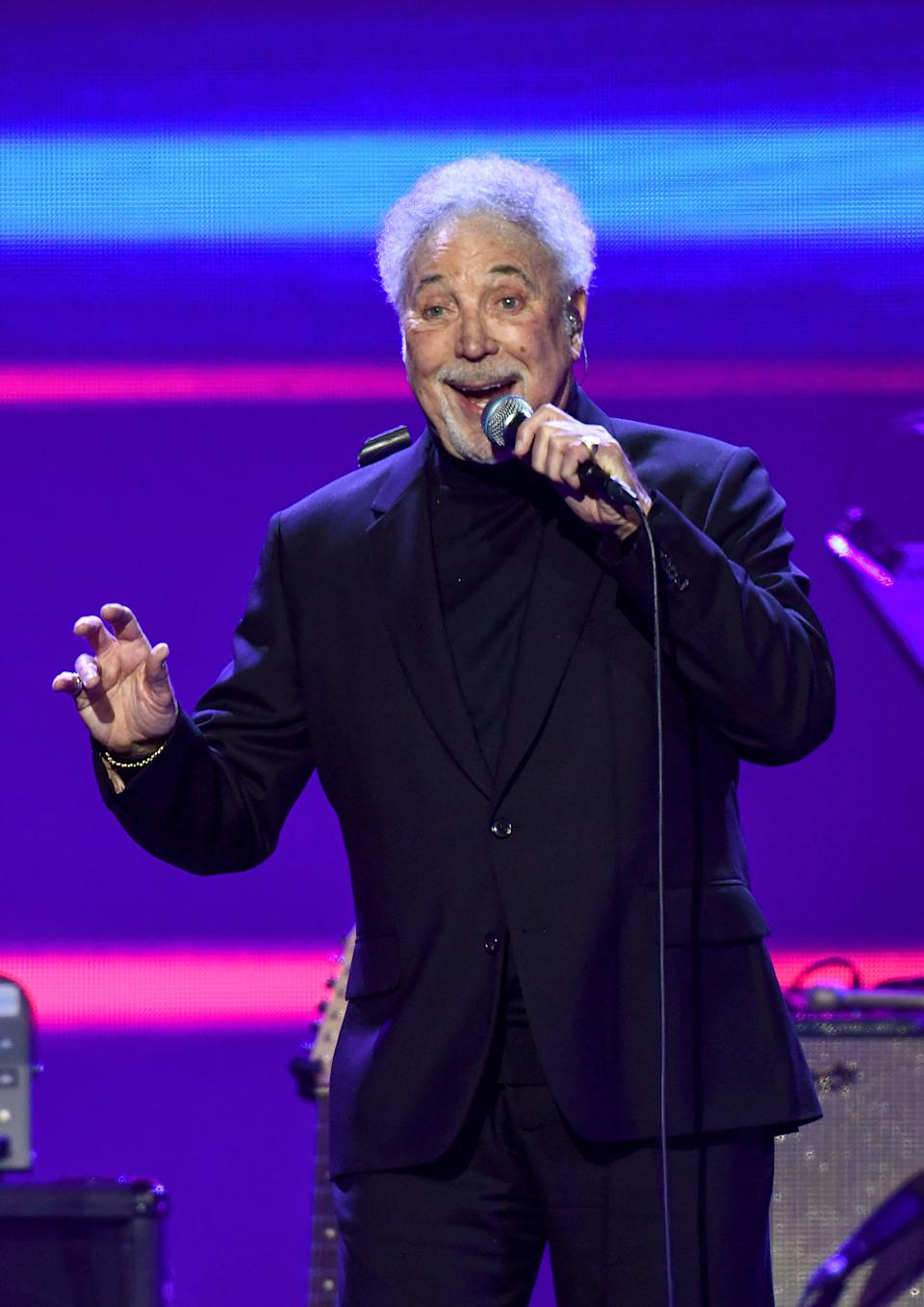 Sir Tom Jones' 'Surrounded By Time' is his fourth number one album. (Photo by Gareth Cattermole/Gareth Cattermole/Getty Images)