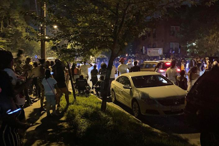 This image provided by a resident in Washington, D.C., neighborhood shows a party where a shooting later occurred. (via NBC News)