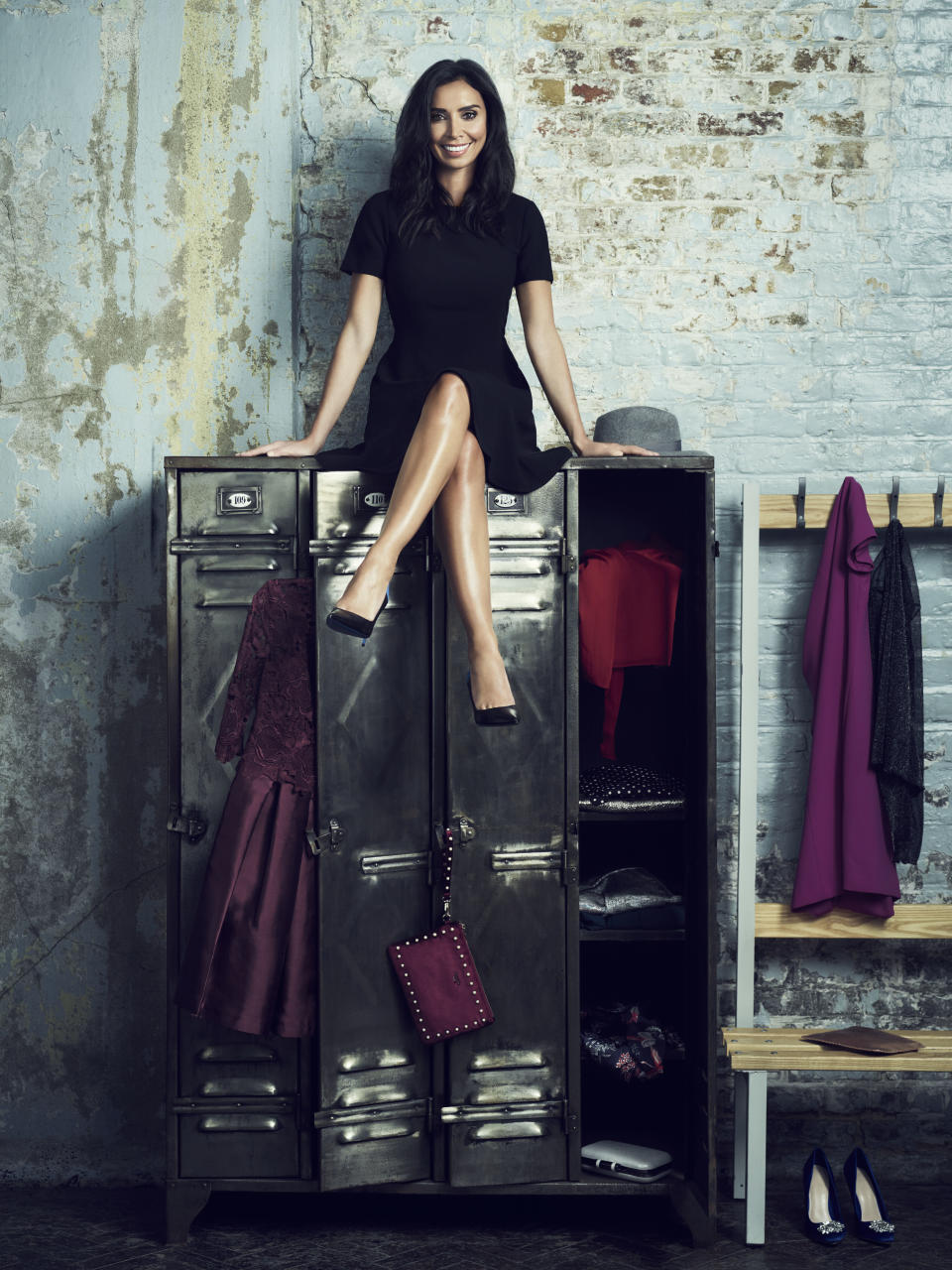 Christine Lampard poses for the Give Up Clothes for Good campaign. (Photo: Jason Bell)