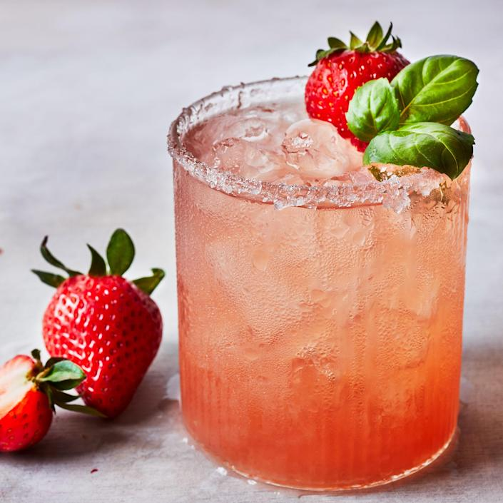 <p>This fresh strawberry margarita is sweet, with a light herbal note from the basil. It's got the classic margarita taste—with the added benefit of fresh strawberries shining through, making it light and very refreshing.</p>