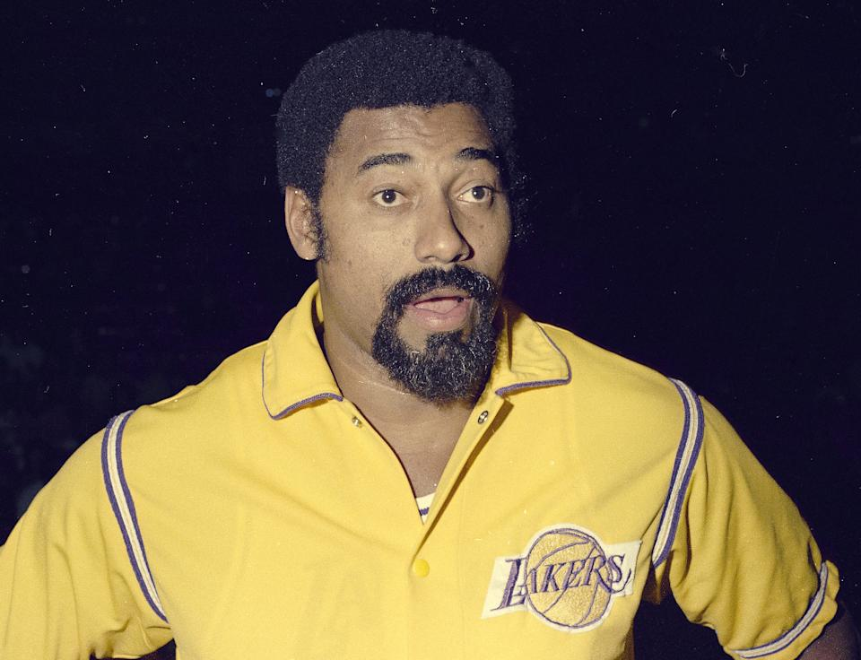 Los Angeles Lakers' star Wilt Chamberlain is seen, 1973.  (AP Photo)
