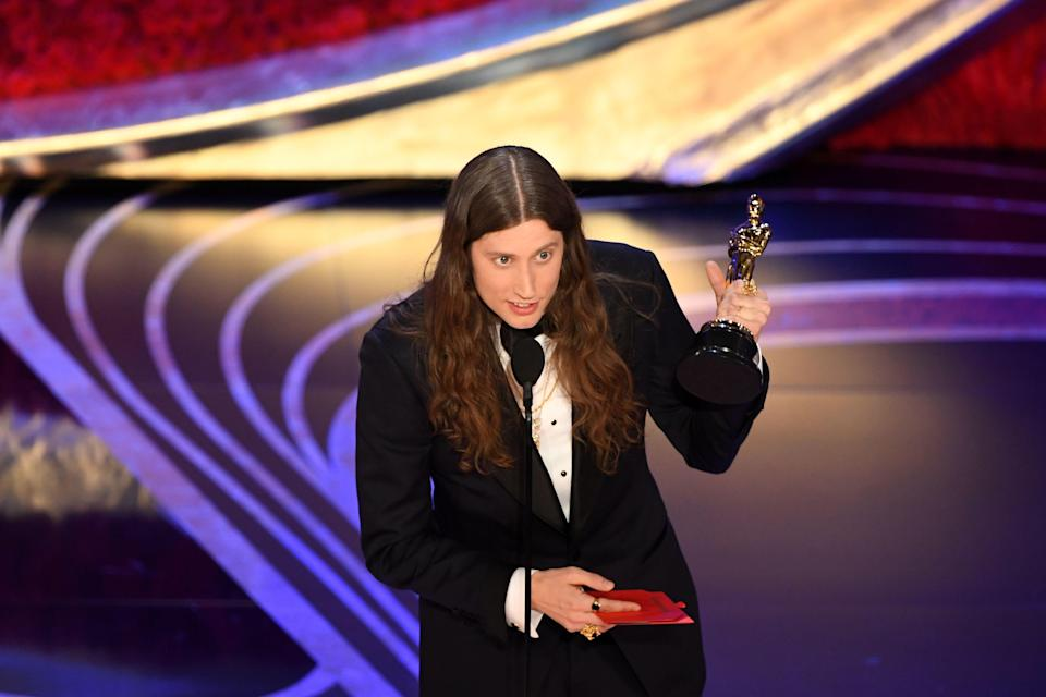 Ludwig Göransson accepts the award for Best Original Score during the 91st annual Academy Awards at the Dolby Theatre in Hollywood on Feb. 24, 2019. (Photo: Valerie Macon/AFP/Getty Images)