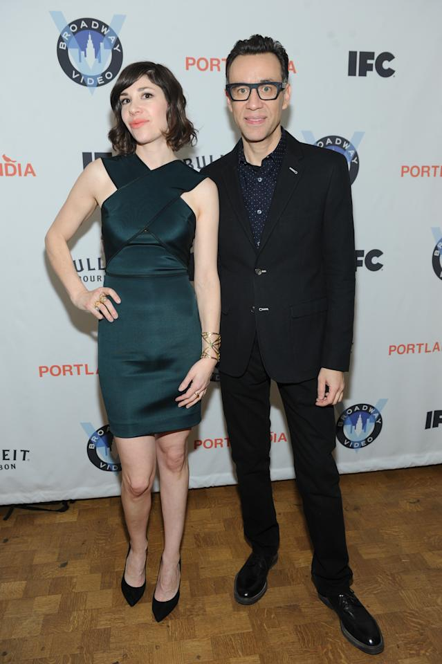IMAGES DISTRIBUTED FOR IFC - Portlandia co-creators and stars Carrie Brownstein and Fred Armisen attend the Portlandia Season 4 Premiere Party on Thursday, February, 27, 2014 in New York. (Photo by Diane Bondareff/Invision for IFC/AP Images)