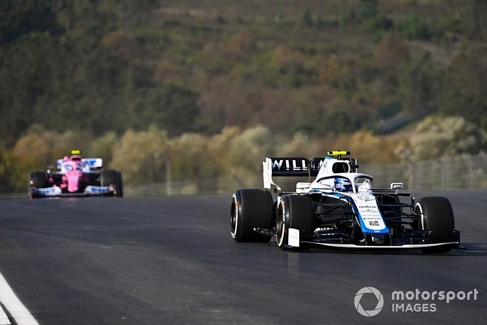 "Nicholas Latifi, Williams FW43, Lance Stroll, Racing Point RP20<span class=""copyright"">Mark Sutton / Motorsport Images</span>"