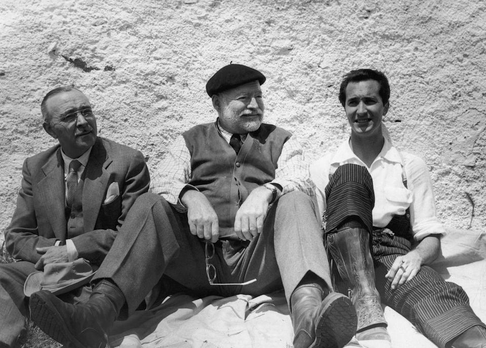 """<p>In the late '50s, Hemingway returned to Spain once again. But instead of documenting a war, he was <a href=""""https://www.pbs.org/hemingwayadventure/spain.html"""" rel=""""nofollow noopener"""" target=""""_blank"""" data-ylk=""""slk:focused on the matador lifestyle"""" class=""""link rapid-noclick-resp"""">focused on the matador lifestyle</a>. </p>"""