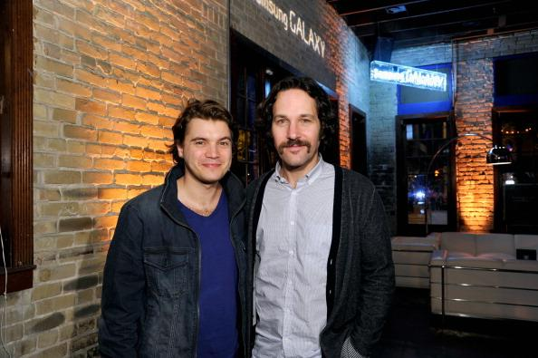 Actors Emile Hirsch and Paul Rudd attend the Prince Avalanche dinner hosted by The Samsung Galaxy Experience at SXSW on March 9, 2013 in Austin, Texas.