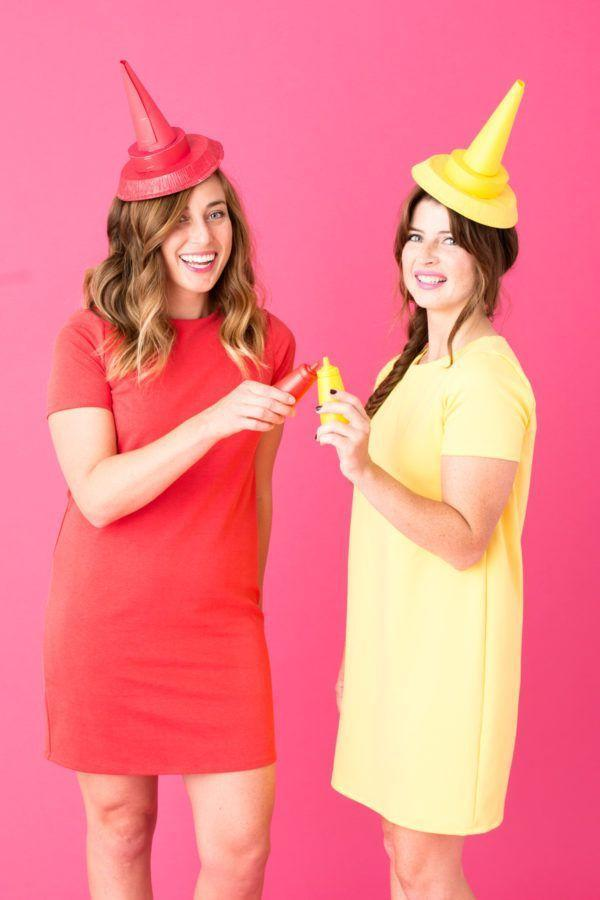 """<p>She's the peanut butter to your jelly ... or in this case, the ketchup to your mustard (or vice versa). Add some bright color to your Halloween with these simple red and yellow costumes.</p><p><em><a href=""""https://studiodiy.com/2016/10/14/diy-hot-dog-costume/"""" rel=""""nofollow noopener"""" target=""""_blank"""" data-ylk=""""slk:Get the tutorial at Studio DIY »"""" class=""""link rapid-noclick-resp"""">Get the tutorial at Studio DIY »</a></em> </p>"""