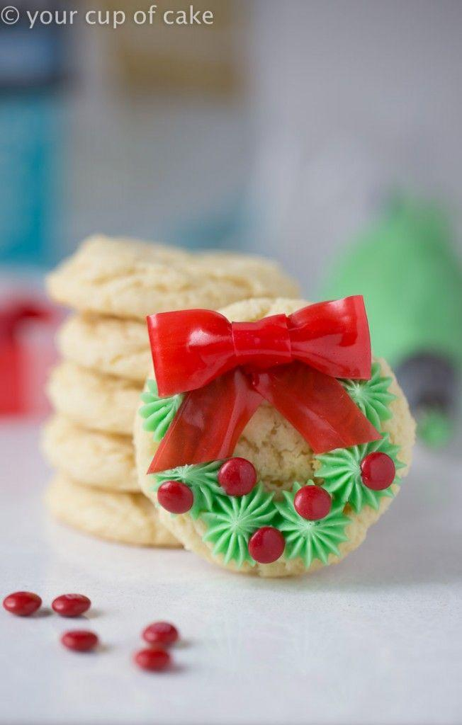 """<p>Get inspired by these adorably decorated cookies to DIY your own <a href=""""https://www.countryliving.com/diy-crafts/how-to/g1056/diy-wreath-ideas/"""" rel=""""nofollow noopener"""" target=""""_blank"""" data-ylk=""""slk:Christmas wreath"""" class=""""link rapid-noclick-resp"""">Christmas wreath</a>.<br></p><p><strong>Get the recipe at <a href=""""http://www.yourcupofcake.com/2015/12/easy-christmas-wreath-cookies.html"""" rel=""""nofollow noopener"""" target=""""_blank"""" data-ylk=""""slk:Your Cup of Cake"""" class=""""link rapid-noclick-resp"""">Your Cup of Cake</a>.</strong></p>"""