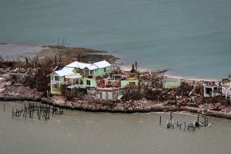 Destroyed houses are seen in an aerial photograph after Hurricane Dorian on the island of Great Abaco