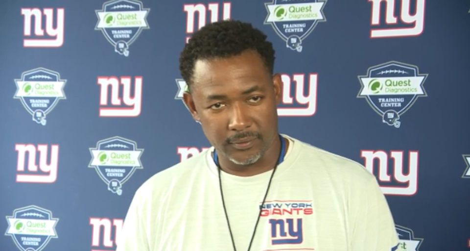 Giants DC Patrick Graham during training camp press conference