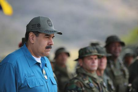 Venezuela's President Nicolas Maduro attends a military exercise in Turiamo, Venezuela February 3, 2019. Miraflores Palace/Handout via REUTERS