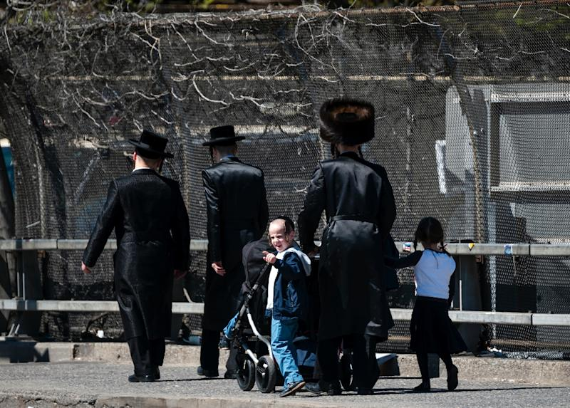 In New York, an Orthodox Jewish community in Brooklyn has been hardest hit by the measles outbreak (AFP Photo/Johannes EISELE)