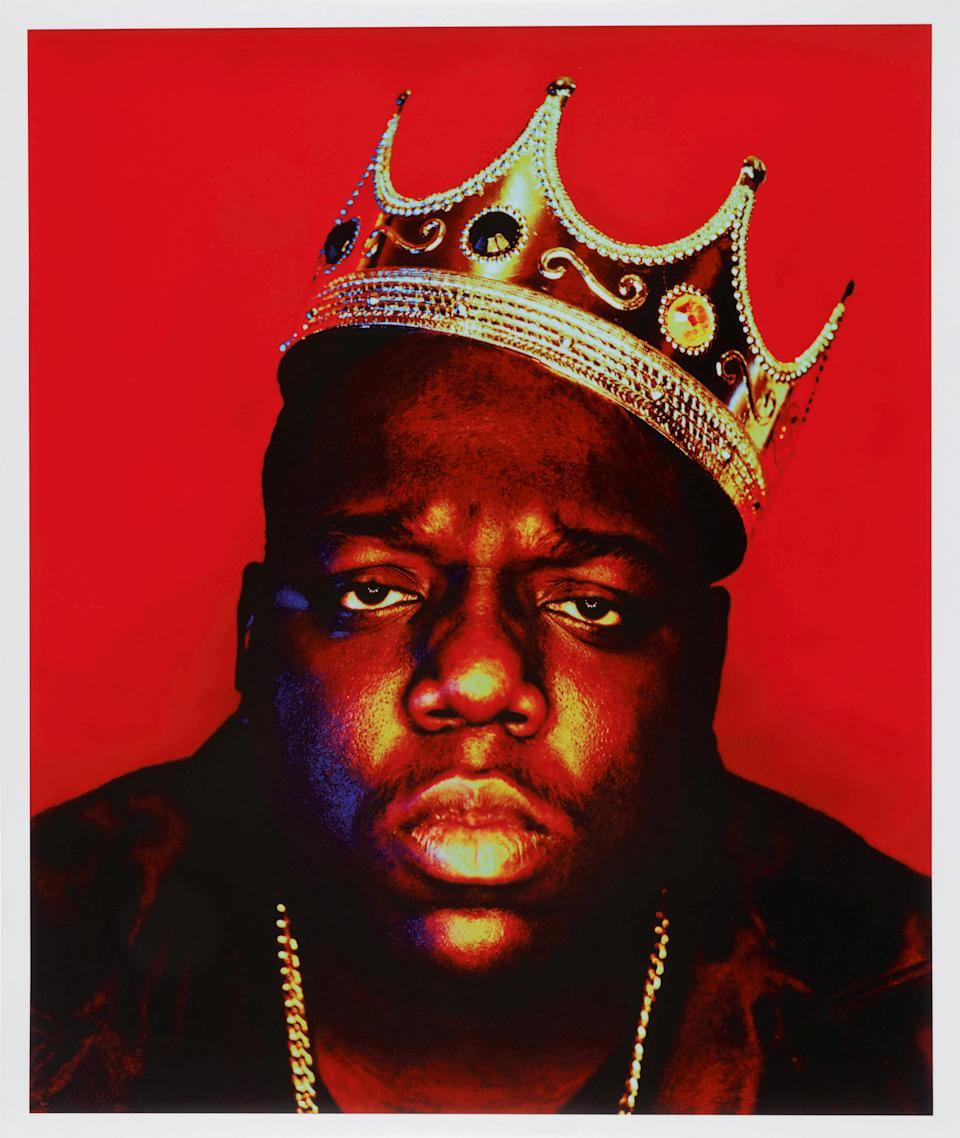 Rapper Notorious B.I.G. is seen in this 1997 photo titled 'Notorious B.I.G as the K.O.N.Y' by Barron Claiborne. / Credit: Sotheby's