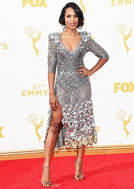 Kerry Washington at the Emmys on September 20, 2015