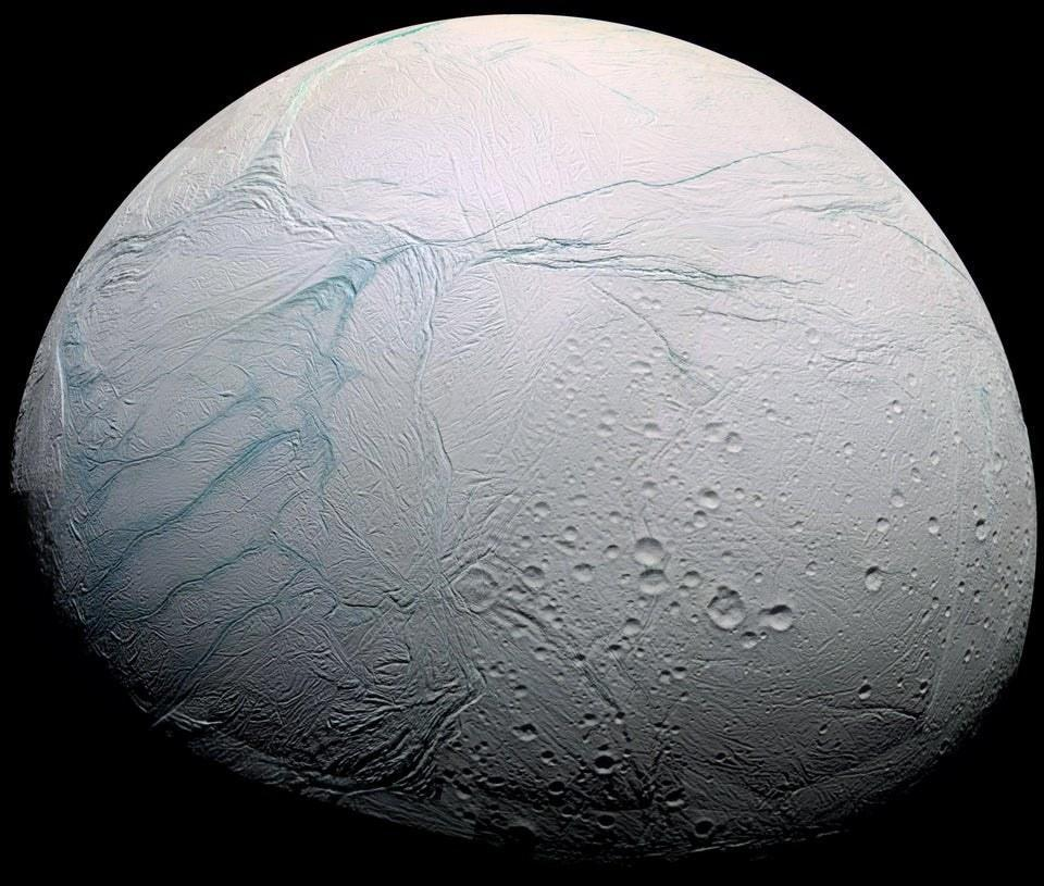 The icy, pocked surface ofEnceladus up close in HD