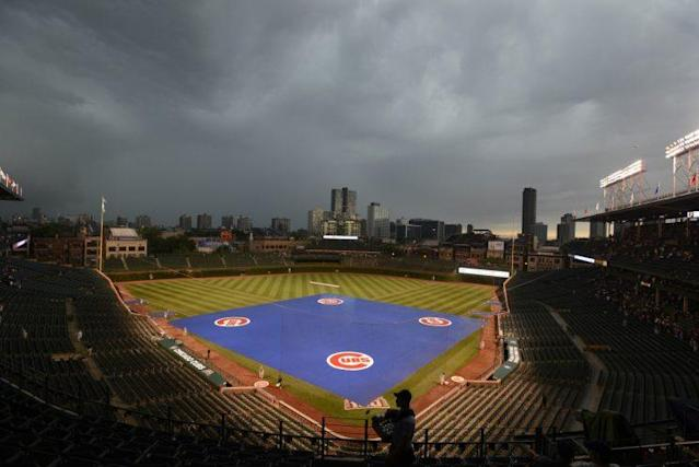 The Brewers believe the Cubs had an ulterior motive for canceling Saturday's game. (AP Photo)