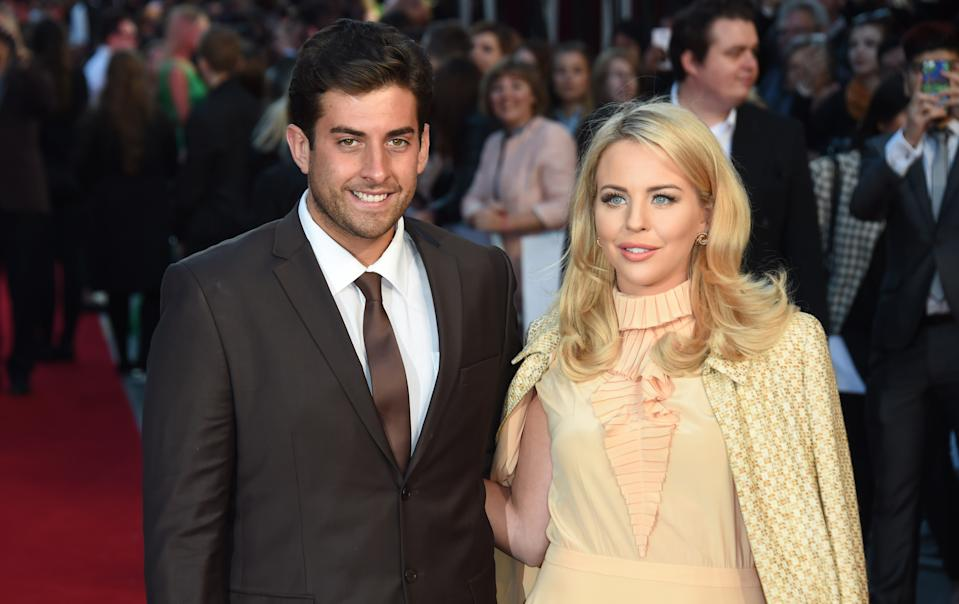 "LONDON, ENGLAND - SEPTEMBER 27: Lydia Bright and James Argent attend the UK Premiere of ""The Intern"" at Vue West End on September 27, 2015 in London, England. (Photo by Stuart C. Wilson/Getty Images)"