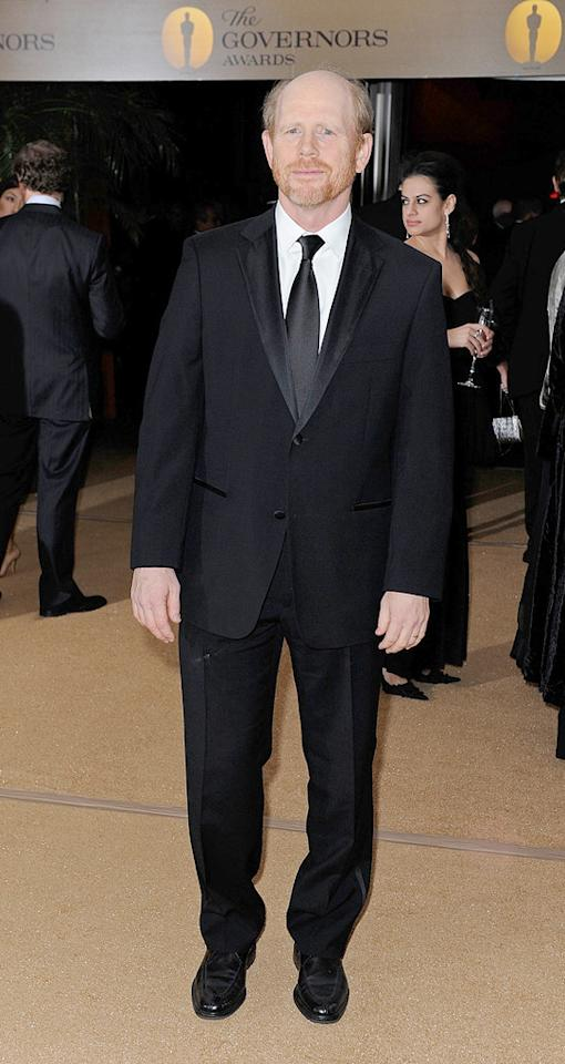 "<a href=""http://movies.yahoo.com/movie/contributor/1800017103"">Ron Howard</a> at the Academy of Motion Picture Arts and Sciences' Inaugural Governors Awards - 11/14/2009"