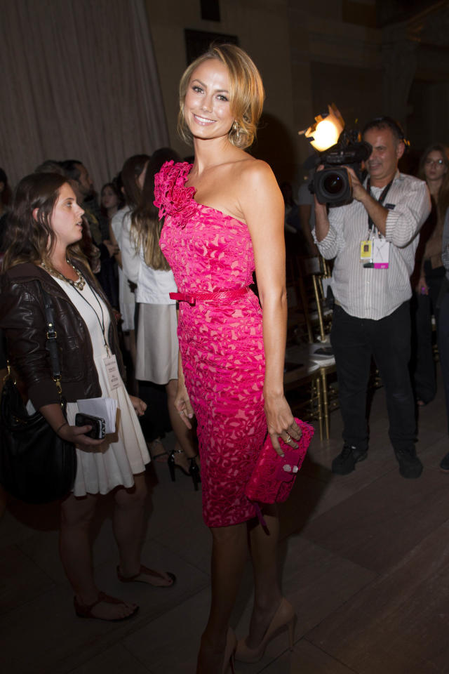 IMAGE DISTRIBUTED FOR FIJI WATER - Stacy Keibler attends the FIJI Water-sponsored Marchesa Spring 2013 Fashion Show at Vanderbilt Hall on Wednesday Sept. 12, 2012, in New York. (Photo by Victoria Will/Invision for FIJI Water /AP Images)