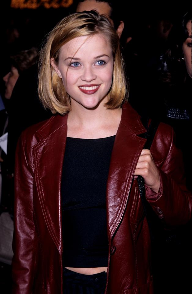 <p>Witherspoon's dirty blond hair was chopped into a bob in 1996. </p>