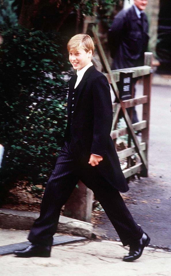 Prince William on his first day at Eton in September 1995. [Photo: PA]