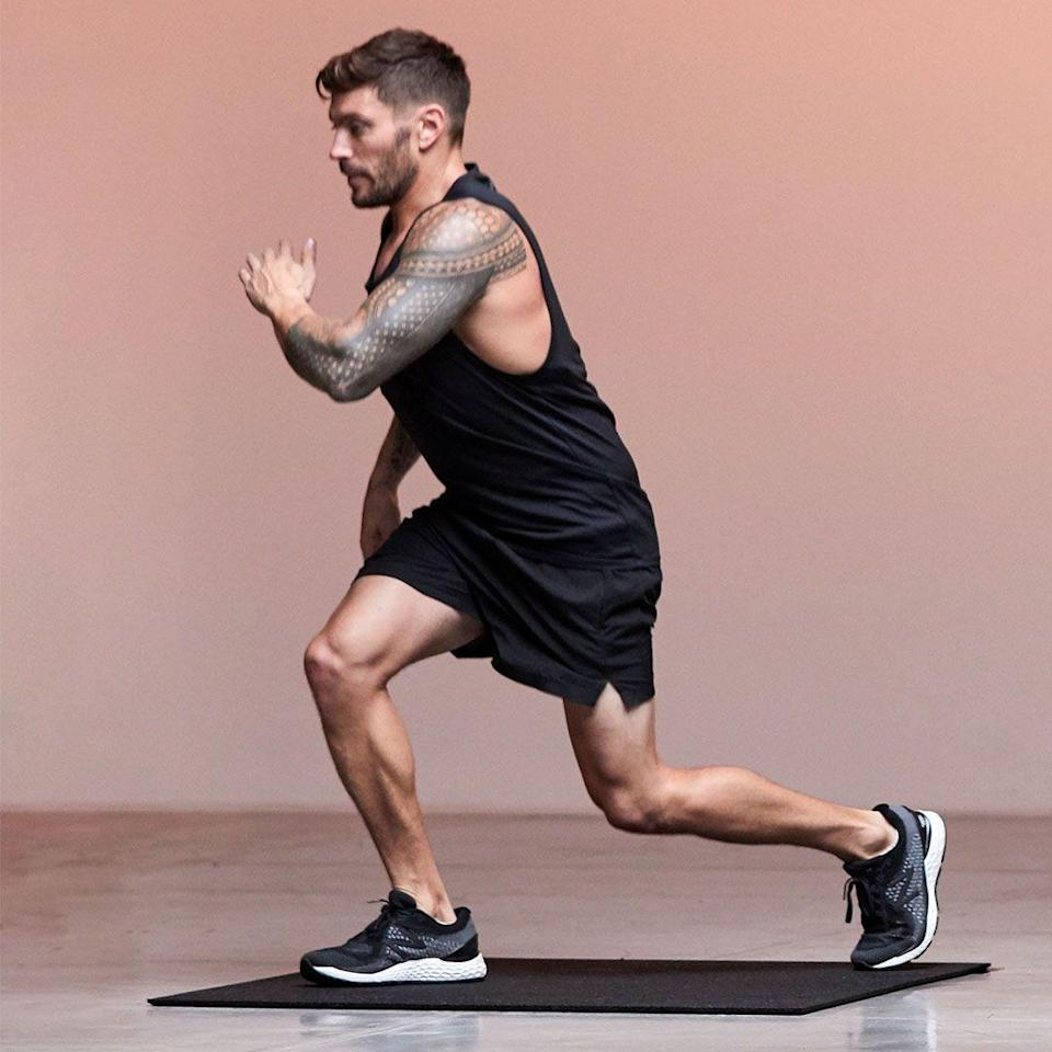 <p>Lunge backwards with knee just above the ground and then drive the leg up strong before quickly switching feet with a jump and repeating on the other side. For a lower-impact option swap the jump for a step.</p>