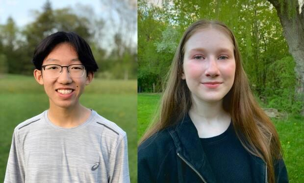 Jason Wong, left, and Hannah Cohen, right, are both seniors a Earl Haig Secondary School who are fighting against the return of quadmesters. They say the learning model negatively affects students' academic performance and mental health.