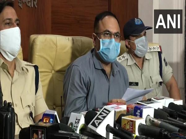 Indore crime branch Additional SP Guru Prasad Parashar during a press conference on Friday. (Photo/ANI)