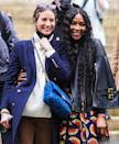 <p>Supermodels Christy Turlington and Naomi Campbell reunite after the Fendi show during Paris Fashion Week on Wednesday in Paris.</p>