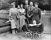 <p>Multiple generations of the royal family came together for a sweet portrait taken on the Balmoral grounds when Princess Anne was just one year old.</p>