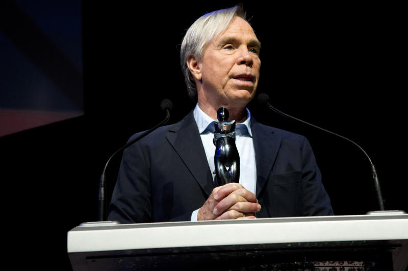 """This June 4, 2012 photo shows fashion designer Tommy Hilfiger at a rehearsal for the CFDA Awards in New York. Hilfiger has been in the fashion business for more than 40 years, starting at a little denim shop in Elmira, N.Y., and now at the helm of a brand that's one of the most recognizable in the world. This spring, he added """"American Idol"""" style adviser to his resume. His peers at the Council of Fashion Designers of America honored him Monday night with a lifetime achievement award. (AP Photo/Charles Sykes)"""