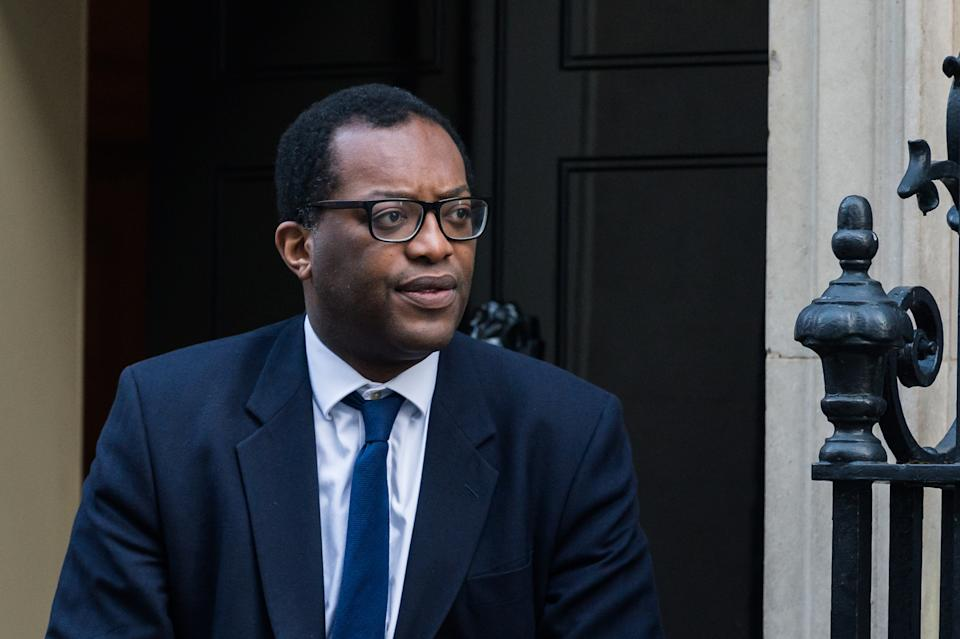 LONDON, UNITED KINGDOM - FEBRUARY 06, 2020: Minister of State for Business, Energy and Clean Growth Kwasi Kwarteng leaves 10 Downing Street in central London after attending a Cabinet meeting on 06 February, 2020 in London, England.- PHOTOGRAPH BY Wiktor Szymanowicz / Barcroft Media (Photo credit should read Wiktor Szymanowicz/Barcroft Media via Getty Images)