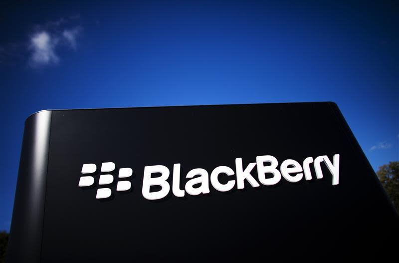 File of the company logo is see at the Blackberry campus in Waterloo