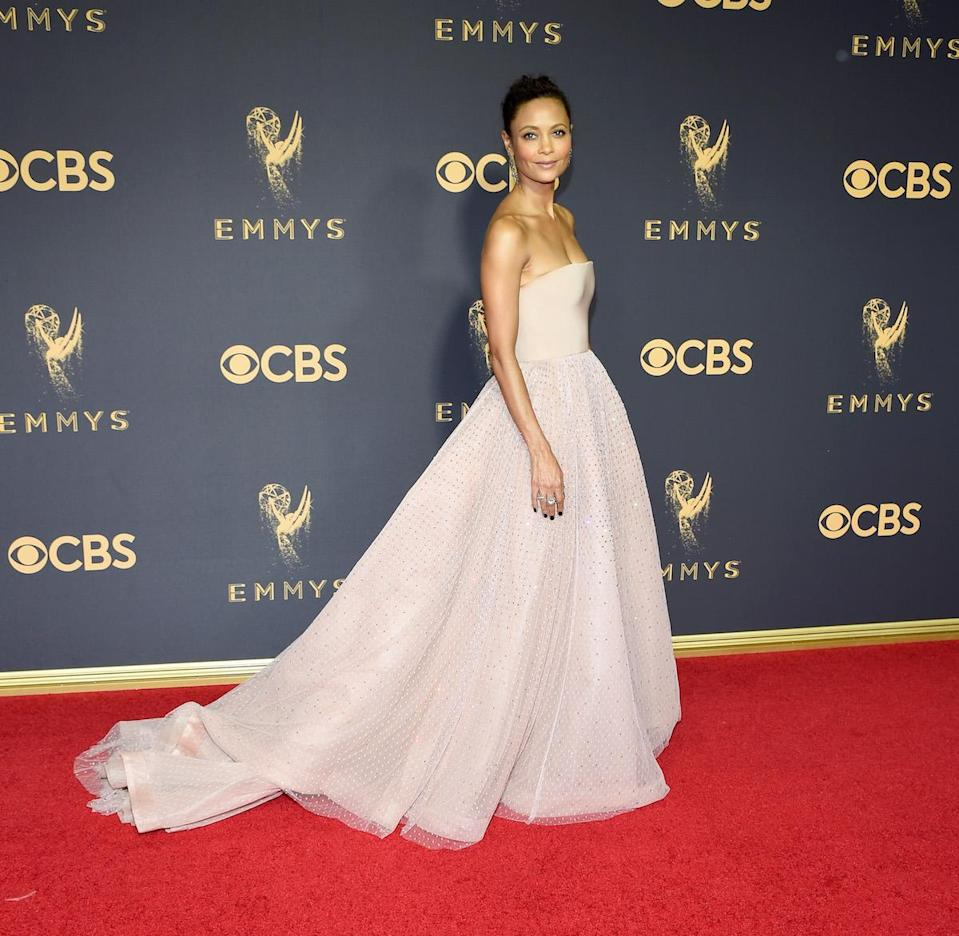 <p>Thandie Newton attends the 69th Annual Primetime Emmy Awards on September 17, 2017.<br> (Photo: Getty Images) </p>