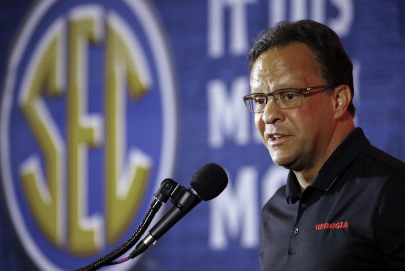 Georgia coach Tom Crean speaks during the SEC men's NCAA college basketball media day in Birmingham Ala. More