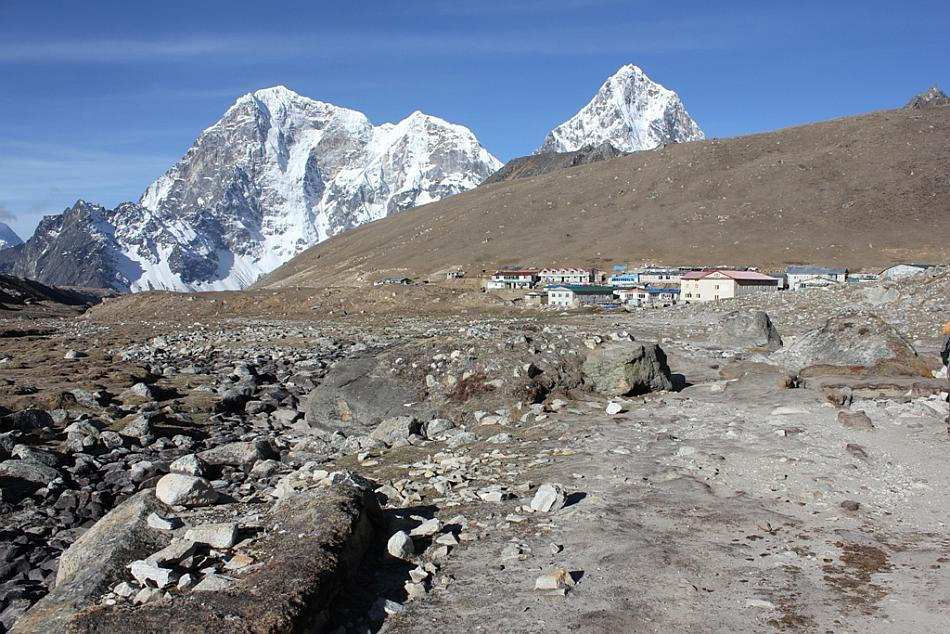 """Lobuje village: The trek was so tiring for me that before reaching Lobuje I was never sure if I would be able to make to the next day! My constant chant to whoever would listen to me was, """"I wonder if I would be able to haul myself all the way up to the Base Camp."""" But once I reached Lobuje for the first time I thought, """"It would be a pity if I do not complete the trek now."""""""
