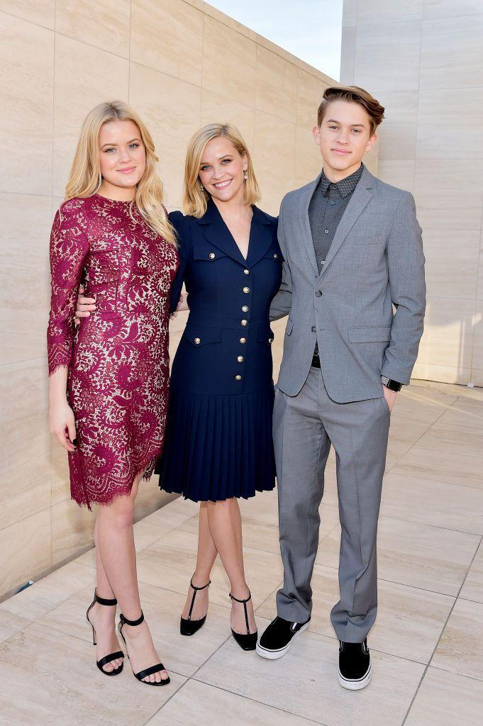<p>Reese's eldest children accompanied her to the Hollywood Reporter's 100 Power Women in Entertainment event where she was being honoured. </p>