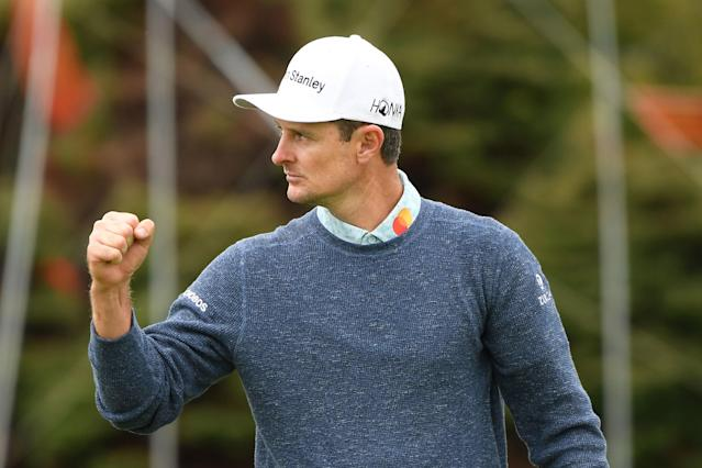 Justin Rose is one off the lead heading into the final round of the U.S. Open, but listening to him talk on Saturday, you'd think he was leading by four