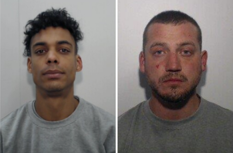 Joseph Stott, 34, and Aidan Matthews 31, were jailed on Friday at Manchester Crown Court after being found guilty of his murder.
