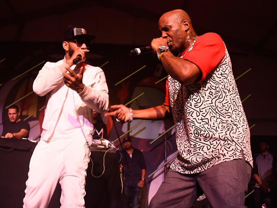 Swizz Beatz and DMX perform live in 2015Getty Images for Bacardi