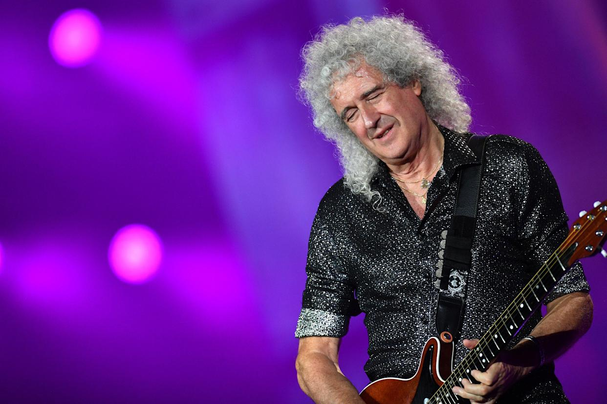 Lead guitarist Brian May of Queen performs during the 2019 Global Citizen Festival on the Great Lawn of Central Park, in New York, NY, September 28, 2019. Global Citizens Festival is aimed at bringing awareness for world leaders to empower women, combat plastic pollution, fght Infectious diseases, and build global human capital. (Photo by Anthony Behar/Sipa USA)