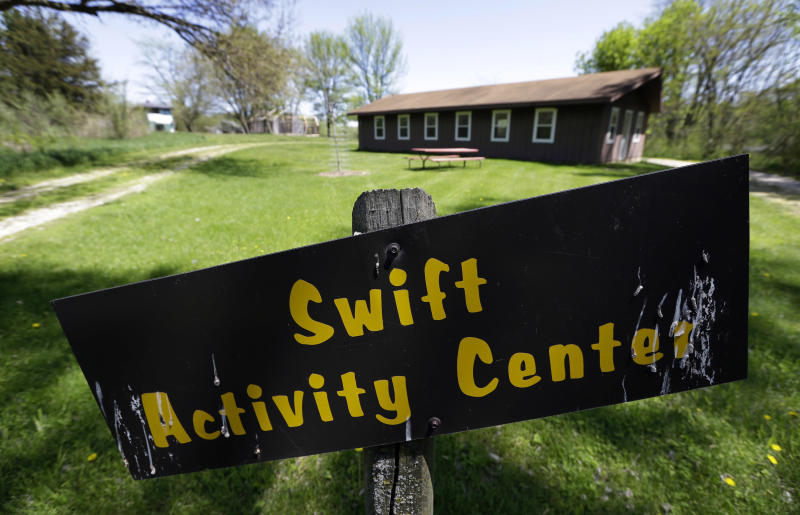 This Tuesday, May 14, 2013 photo shows the Swift Activity Center at the Camp Conestoga Girls Scouts camp in New Liberty, Iowa. In an effort to save money, Girl Scout councils across the country are making proposals that would have been unthinkable a generation ago: selling summer camps that date back to the 1950s. (AP Photo/Charlie Neibergall)