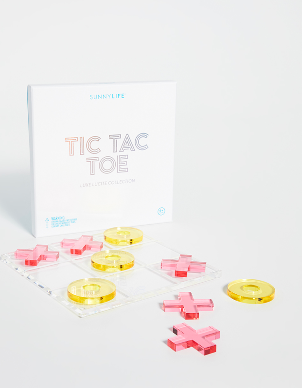 "This acrylic game is a cute alternative for a coffee table book, ideal for the barren college apartment that could use a little love. $60, Shopbop. <a href=""https://www.shopbop.com/loucite-tic-tac-toe-sunnylife/vp/v=1/1580272408.htm"" rel=""nofollow noopener"" target=""_blank"" data-ylk=""slk:Get it now!"" class=""link rapid-noclick-resp"">Get it now!</a>"