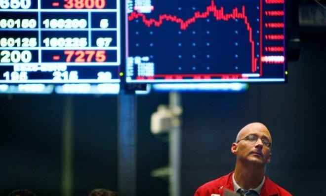 A Chicago trader in the Standard & Poor's stock index futures pit on Sept. 29, 2008.