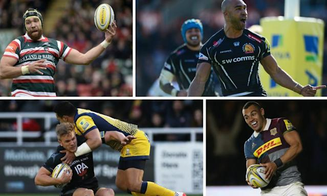 "<span class=""element-image__caption"">Clockwise from top left: Leicester face reflective summer, Exeter exposed Northampton, Harlequins' Joe Marchant outshone Elliot Daly, and Worcester would do well to mirror Newcastle.</span> <span class=""element-image__credit"">Composite: Getty Images; PA</span>"