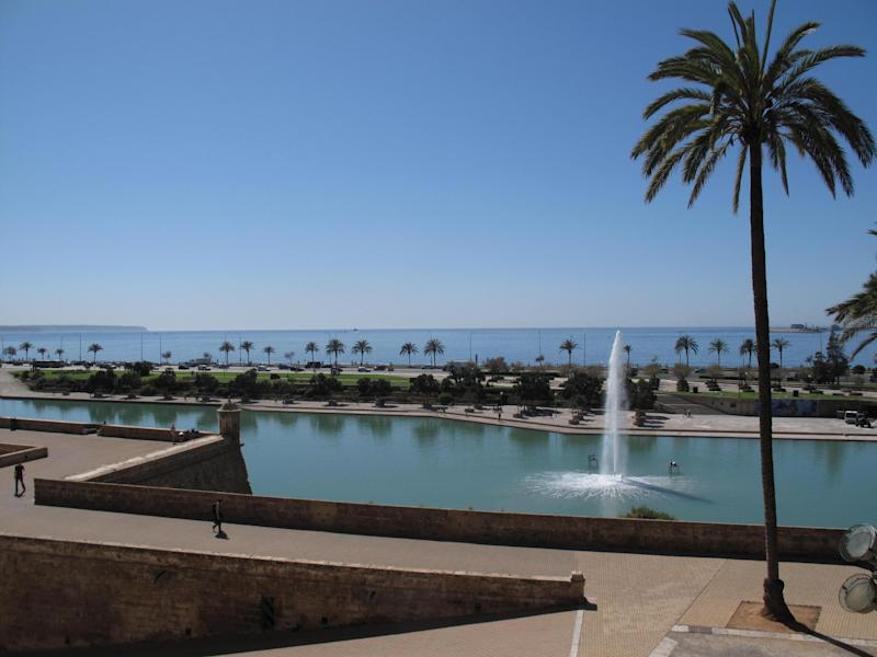 Sunny outlook: Palma, capital of Mallorca, will welcome tourists back ahead of the biggest mainland cities: Simon Calder
