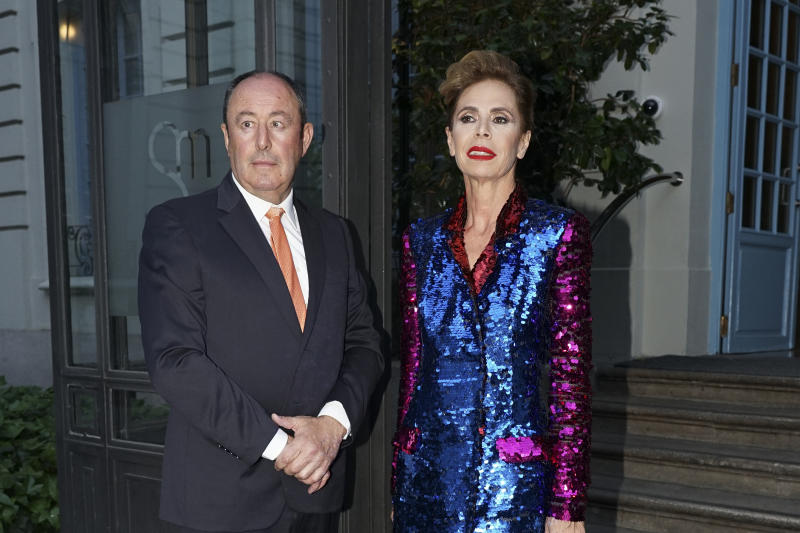 Agatha Ruiz de la Prada and Luis Miguel Rodríguez attends the Vanity Fair journalist award 2018 at Santo Mauro Hotel on June 12, 2018 in Madrid, Spain. (Photo by Oscar Gonzalez/NurPhoto via Getty Images)