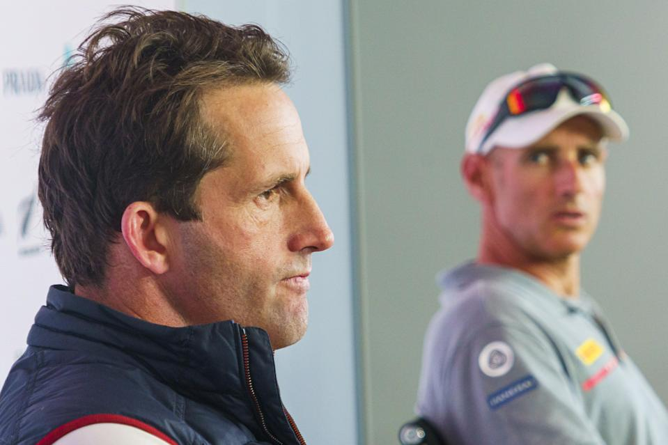 British skipper Sir Ben Ainslie could see his America's Cup challenge go legal after a bad tempered off water spat between organisers and Italian rivals over Covid rules © COR 36 | Studio Borlenghi